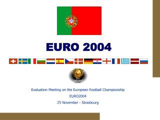 Evaluation Meeting on the European Football Championship EURO2004 25 November - Strasbourg