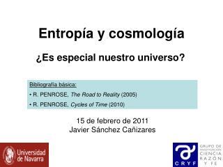 Entropía y cosmología