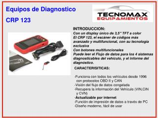 Equipos de Diagnostico CRP 123