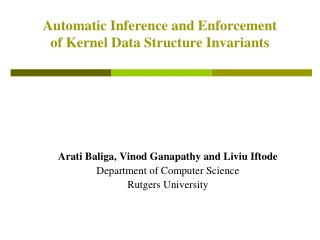Automatic Inference and Enforcement of Kernel Data Structure Invariants