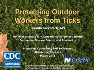 Protecting Outdoor Workers from Ticks