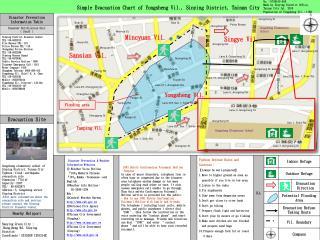 Simple Evacuation Chart of Yongsheng Vil., Sinying District, Tainan City