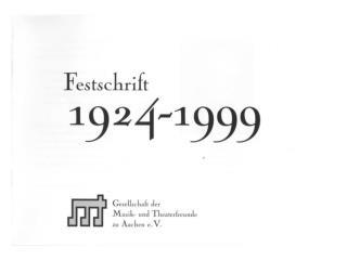 1999 Festschrift 75 Jahre GMT