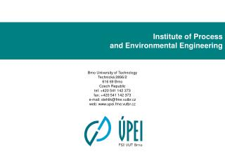 Institute of Process and Environmental Engineering