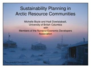 Sustainability Planning in Arctic Resource Communities