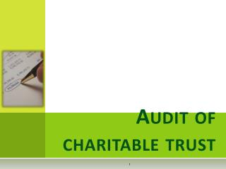 Audit of charitable trust