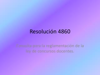 Resolución 4860