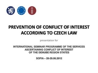 PREVENTION OF CONFLICT OF INTEREST ACCORDING TO CZECH LAW presentation for