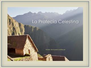La Profecía Celestina