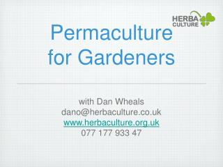 Permaculture  for Gardeners