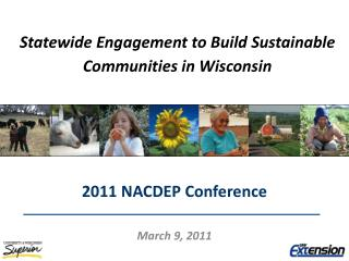 Statewide Engagement to Build Sustainable Communities in Wisconsin