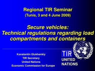 Regional TIR Seminar (Tunis, 3 and 4 June 2009)