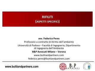 RIFIUTI (aspetti specifici)