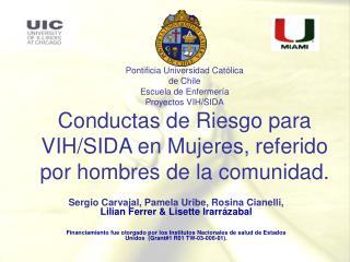 Sergio Carvajal, Pamela Uribe, Rosina Cianelli,  Lilian  Ferrer & Lisette Irarrázabal