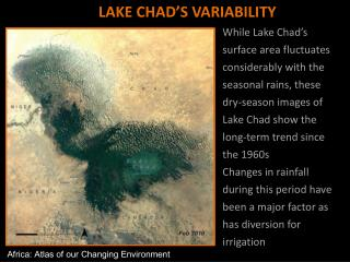 LAKE CHAD'S VARIABILITY