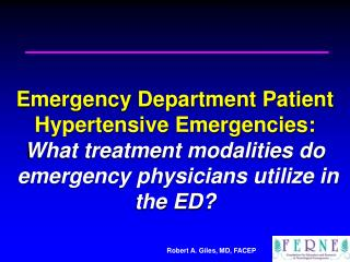 2007 EMA Advanced Emergency & Acute Care Medicine Conference Atlantic City, NJ September 24, 2007