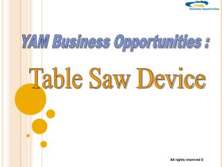 YAM Business Opportunities :