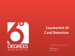 Counterfeit ID Card Detection