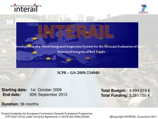 Starting date:    1st  October 2009  End date:         30th September 2012 Duration:  36 months