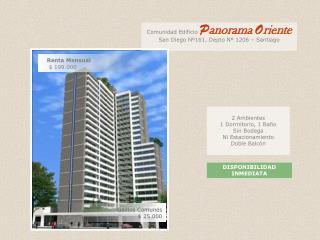 2 Ambientes 1 Dormitorio, 1 Ba�o Sin Bodega Ni Estacionamiento Doble Balc�n