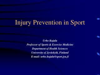 Injury Prevention in Sport