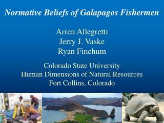 Normative Beliefs of Galapagos Fishermen