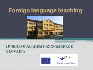 Foreign language teaching