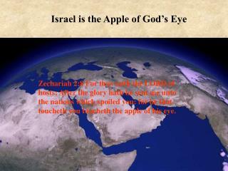 Israel is the Apple of God's Eye