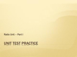 Unit Test Practice