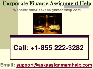 Get Corporate finance assignment help from askassignmenthelp