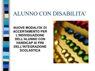 ALUNNO CON DISABILITA�