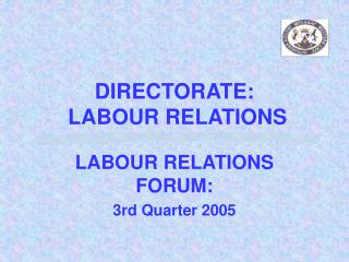 DIRECTORATE:  LABOUR RELATIONS