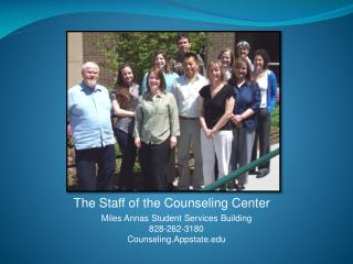 The Staff of the Counseling Center