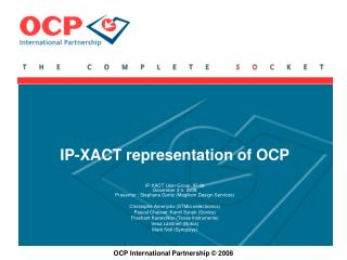 IP-XACT representation of OCP