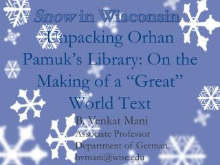 """Unpacking  Orhan Pamuk's  Library: On the Making of a """"Great"""" World Text"""