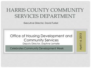 Harris County Community Services Department