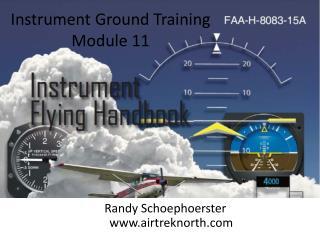Instrument Ground Training  Module 11