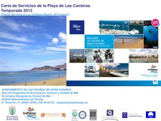 Carta de Servicios de la Playa de Las Canteras Temporada 2013