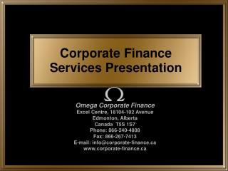 Corporate Finance Services Presentation