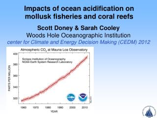 Impacts of ocean acidification on mollusk fisheries and coral reefs