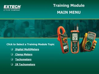 Training Module MAIN MENU