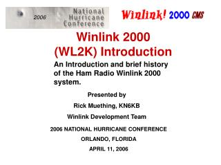 Winlink 2000 (WL2K) Introduction
