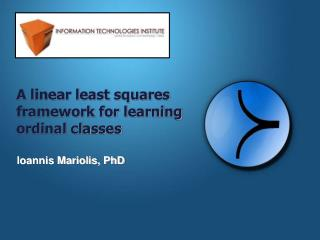 A linear least squares framework for learning ordinal classes