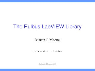 The Rulbus LabVIEW Library