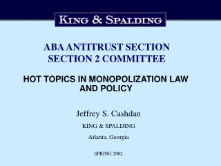 ABA ANTITRUST SECTION SECTION 2 COMMITTEE