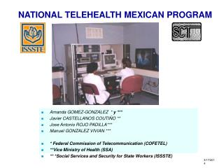 NATIONAL TELEHEALTH MEXICAN PROGRAM