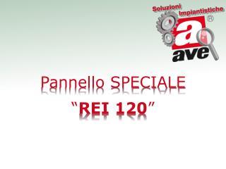 """Pannello SPECIALE """" REI 120 """""""