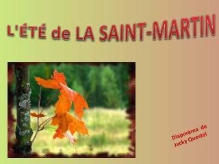 L'ÉTÉ  de LA SAINT-MARTIN