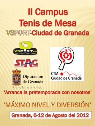 II Campus Tenis de Mesa VS PORT -Ciudad de Granada