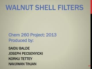 Walnut shell filters